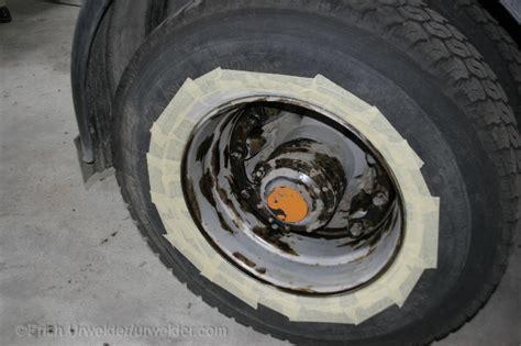 Lackieren Lkw Reifen urweider restauration unseres volvo n1017