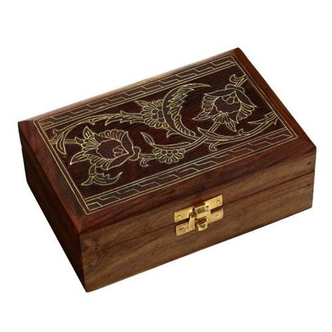 Wooden Jewelry Box Handmade - handcrafted wooden jewelry box from indian gifts
