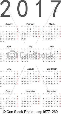 Calendario Can 2017 Calendar Almanaque 2017