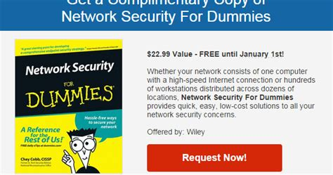 get a network security for dummies ebook normally 22 99