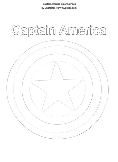 Captain America Shield Coloring Page captain america shield coloring pages captain america