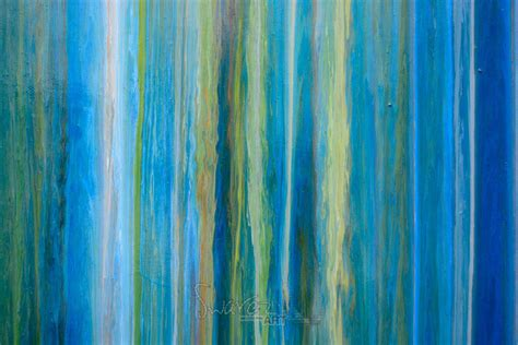 blue artist blue stripey painting with lines earth greens