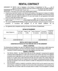 rental contract template 12 rental contract templates free pdf word documents