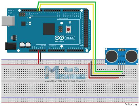 tutorial arduino hc sr04 arduino ping sensor schematic simple obstacle avoiding
