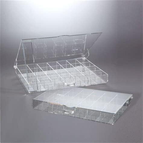 espositori da banco in plexiglass scatola espositore in plexiglas con separatori per anelli
