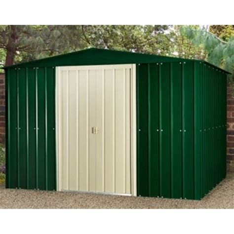 Metal Shed 10 X 6 by 10 X 6 Apex Heritage Green Metal Shed 2 95m X 1 75m