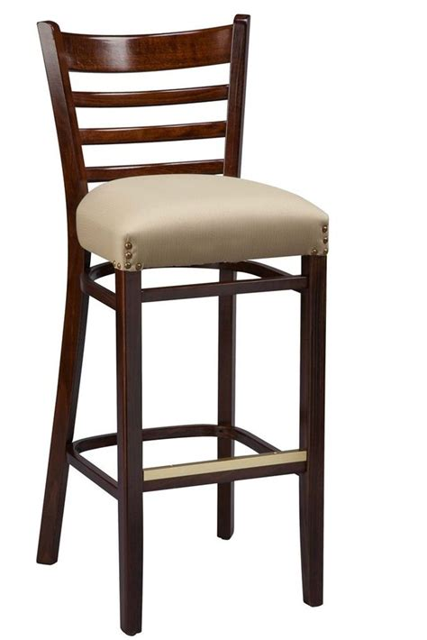 Ladder Back Bar Stools With Seats by Regal Seating Series 415 Wooden Ladder Back Bar Stool With
