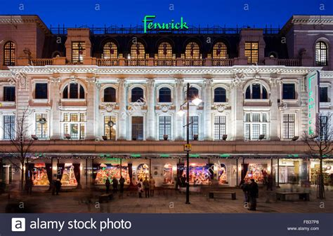 newcastle northumberland street christmas a view at dusk of the window display in fenwick ltd on stock photo royalty free image