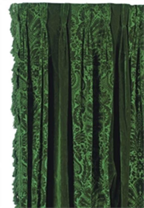 emerald green velvet curtains a pair of emerald green velvet curtain panels late 20th