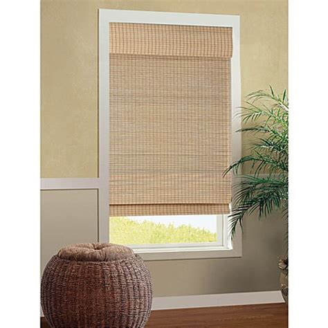 bed bath and beyond window blinds b smith cali roman cordless bamboo shade in natural bed