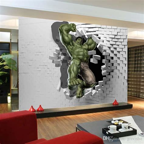 3d wall painting for your bedroom 3d avengers photo wallpaper custom hulk wallpaper unique