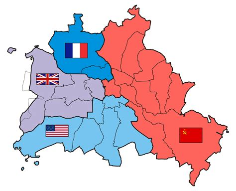germany divided map map occupation zones of germany after world war ii