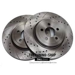 Chrysler 300 Rotors Front Brake Disc Rotors Diameter 345 Mm Left Right Drilled