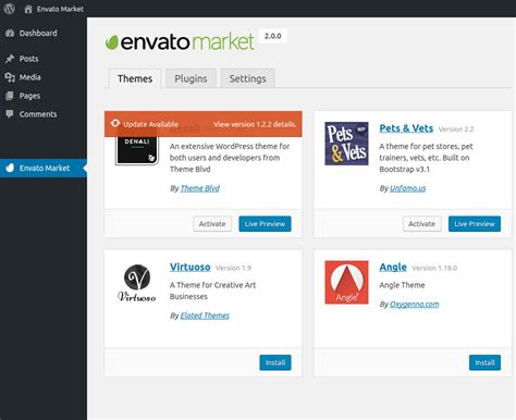 themes wordpress envato envato market wordpress plugin