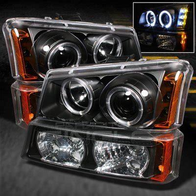 2004 chevy silverado halo lights chevy silverado 2500 2003 2004 black halo projector