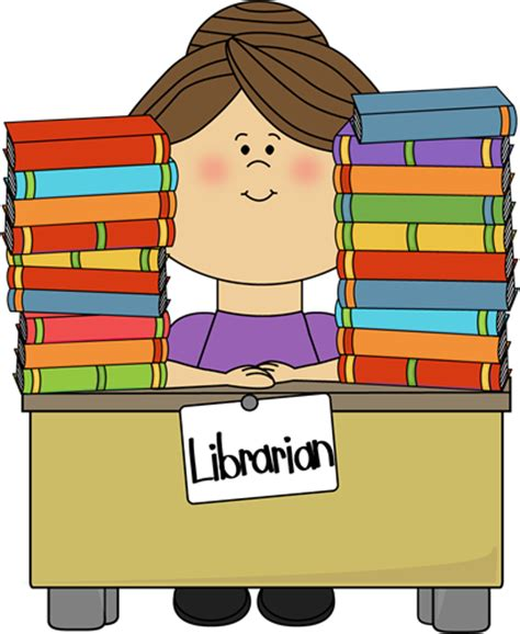 library clipart librarian clip librarian image