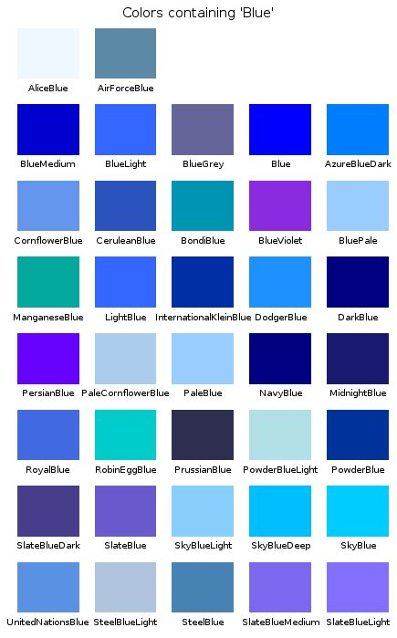 shades of blue color names all shades of blue names pictures to pin on pinterest