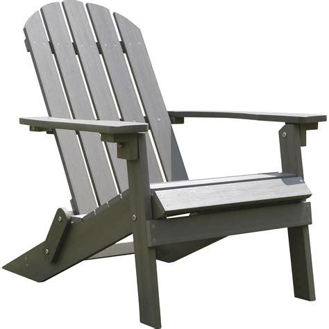 adirondack chairs stonegate designs folding resin adirondack chair gray