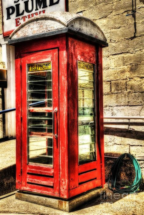 Australian Home Decor Blogs by Old Red Phone Booth Photograph By Kaye Menner