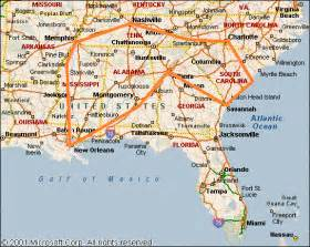 Map Of The South Of Usa by Roadtrip Recap Deep South Usa Fifty States One Day