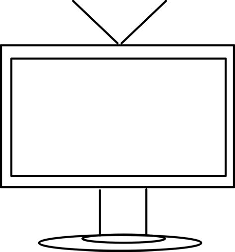 Tv Outline Png by Clipart T V