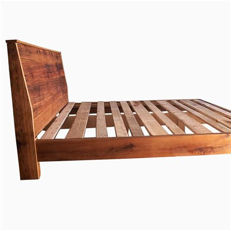 Handmade Wood Bed - buy a custom made modern reclaimed wood bed made to order