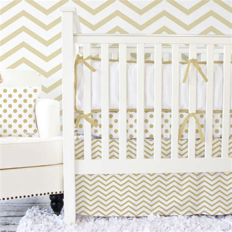 gold baby bedding chevron crib bedding roundup project nursery