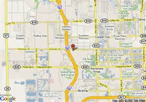 map of pembroke pines florida map of inn express hotel suites pembroke pines