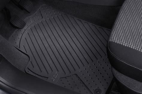 peugeot 308 rubber mats peugeot 207 rubber mats fits all 207 models gt gti rc