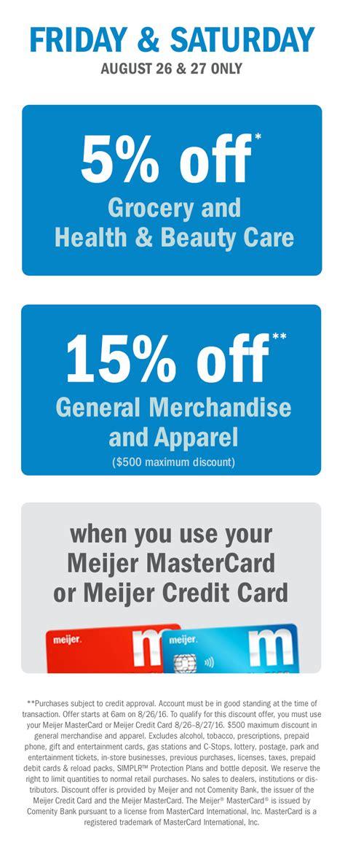 Meijer Gift Card Gas - meijer credit card meijer meijer com