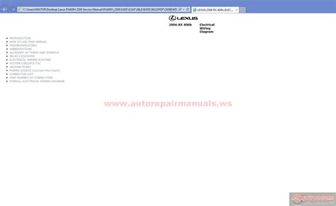 car manuals free online 2006 lexus rx hybrid lane departure warning rutrackerarticle blog