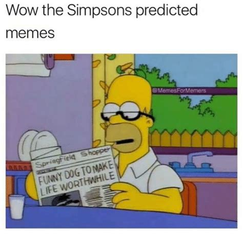 Pics For Memes - wow the simpsons predicted memes formermers ringfield