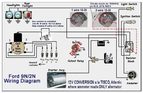 wiring 9n 12v conv ford 9n 2n 8n forum yesterday s