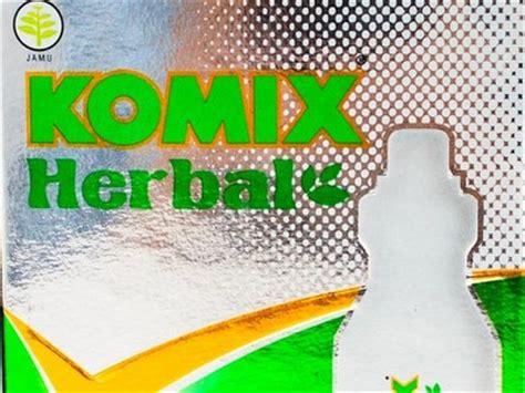 desain kemasan sirup aturan pakai komix herbal dosis cara pemakaian komix herbal
