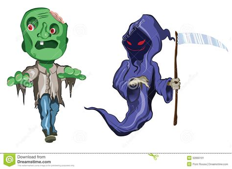imagenes de halloween monstruos scary and funny halloween monsters stock illustration