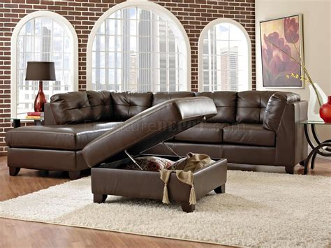 affordable leather sectionals brown bonded leather affordable sectional w optional ottoman