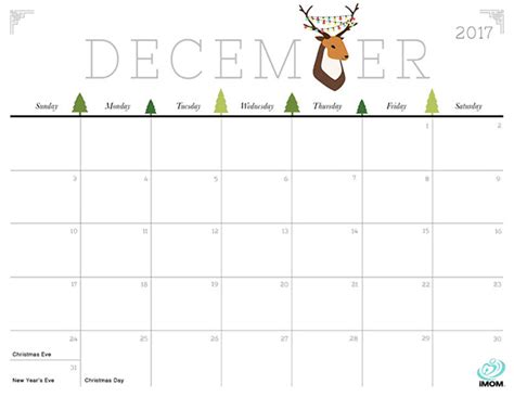 printable calendar october 2017 cute december 2017 calendar cute calendar 2017 printable