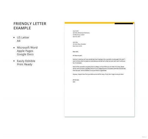 friendly letter templates premium