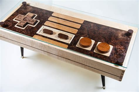 functional wooden nes controller coffee table available