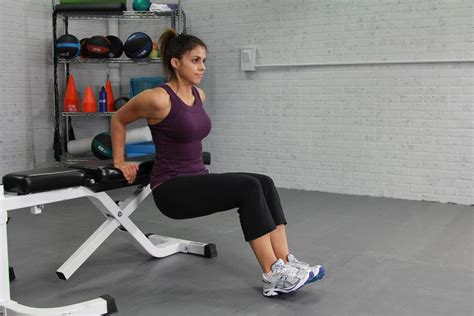 bench exercises ace fit fit life triceps exercises body weight bench