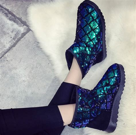Glitter Snow Boots winter ankle boots bling glitter snow boots on luulla