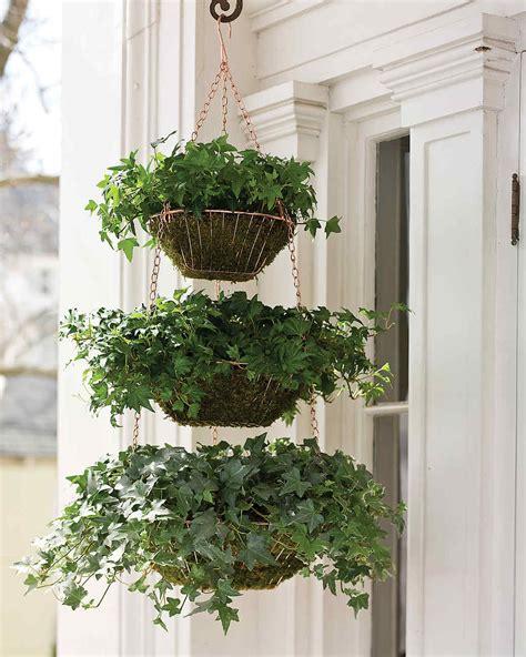 hanging planter basket hanging wire baskets planter martha stewart