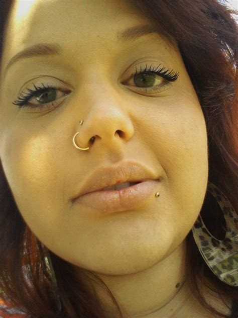 My Beauties Nose And Lip Pierced And Piercing