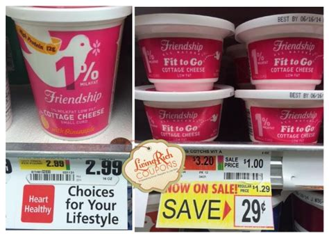 friendship coupons 1 10 in friendship cottage cheese
