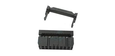 Pcb Lubang Trough Layer Fr4 2x8 jual idc connector 2x8 pin