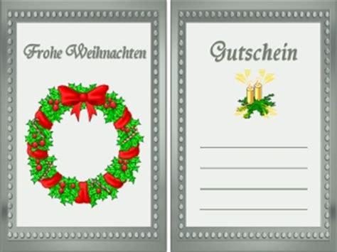 Kostenlose Vorlage Gutschein Weihnachten vordrucke gutscheine kostenlos