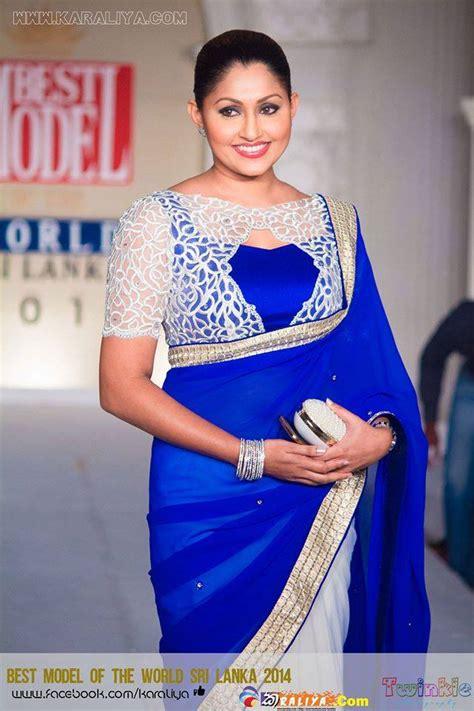 bollywood actross in sri lankan style saree sri lankan fashion aruni rajapakshe saree b s