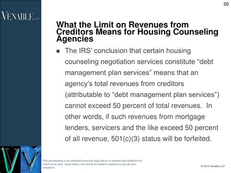internal revenue code section 501 ppt housing counseling agencies and internal revenue