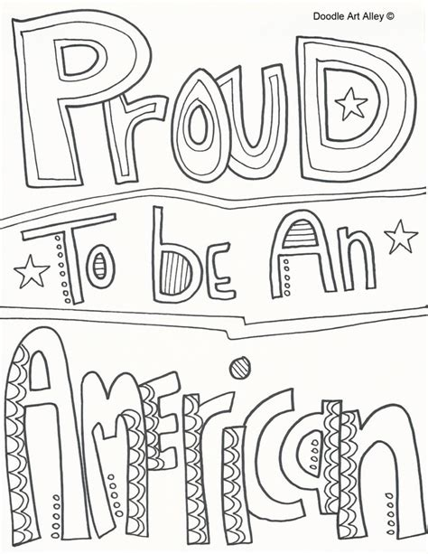 proud to be a an inspirational quotes coloring book with motivational sayings and kawaii doodles coloring books for books independence day coloring pages doodle alley