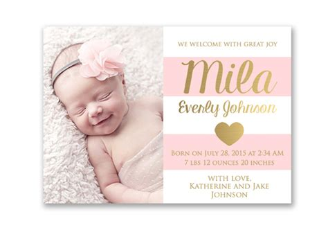 birth announcements cards free birth announcements templates
